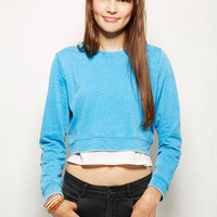Burnout Crop Sweatshirt
