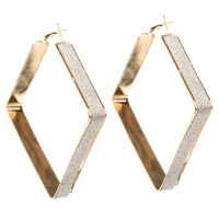 ShoeDazzle Glamatronics Geometric Hoop Earrings
