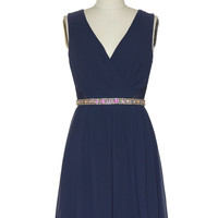 Tiny Dancer Dress in Navy