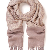 Brocade Jacquard Scarf | Grey | Accessorize