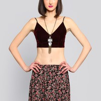 DARK VIRTUES BRALETTE - BURGUNDY