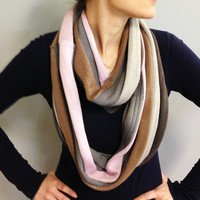 Gray Striped Selena Scarf