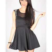 Mesh Sweetheart Dress