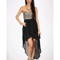 Sequin High Low Dress