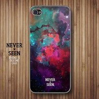 Dark Galaxy Watercolor iPhone 5 5s silicone case