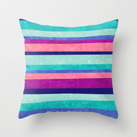 Stripes Askew Throw Pillow by Jacqueline Maldonado