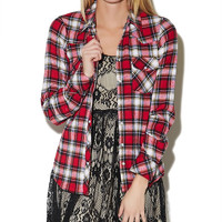Tartan Plaid Flannel Shirt | Wet Seal