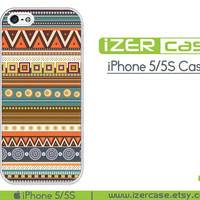 iPhone 5 Case iPhone 5S Case iPhone 5 Cover iPhone 5S Cover iPhone 5/5S Cover Rubber iPhone 5/5S Plastic Unique Aztec Pattern
