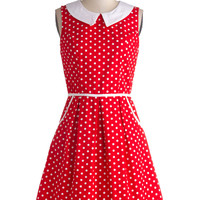 All Eyes on Unique Dress in Dotty | Mod Retro Vintage Dresses | ModCloth.com