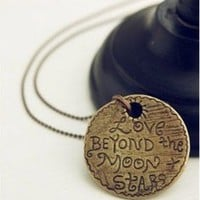 """Love Beyond the Moon & Stars"" Necklace"