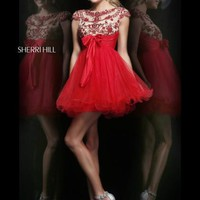 Sherri Hill Short Dress 21284 at Prom Dress Shop