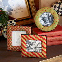 MacKenzie-Childs Red & Green Holiday Frame Set