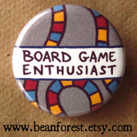 board game enthusiast - pinback button badge
