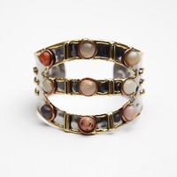 Stone Mid Arm 3 Tier Cuff
