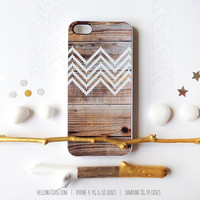 iPhone 5 Case Wood Print, iPhone 5s Case Chevron, iPhone 4 Case, iPhone 4s Case, Geometric iPhone Case, White Chevron iPhone Cover T127