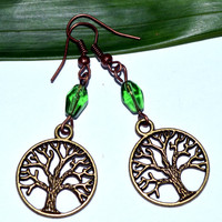 BUY 4-Choose ANY 1 Tree of life charm earrings green tree casual earrings affordable gift