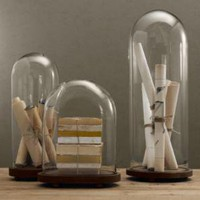 1920s French Glass Cloches | Objets D'Art | Restoration Hardware