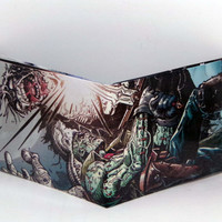 Comic Book Wallet// Frankenstein vs Solomon Grundy