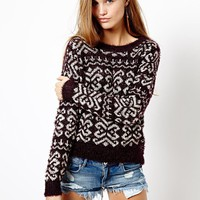 Only Patterned Knit Jumper