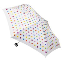 totes Manual Purse Umbrella with Case - White Dot
