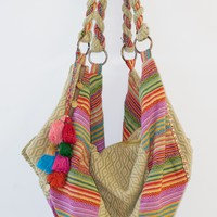 SHIVA PATTERNED HOBO BAG