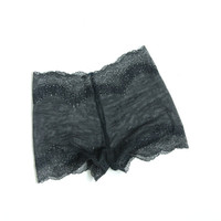 EASE 4 - black elastic lace panties - Ready to ship