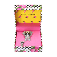 Betsey Johnson Gifting Crystal Bulldog Set