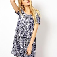 ASOS Dress In Patchwork Tile Print