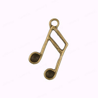 10pcs Antique Bronze Musical Note Charm Pendant, 15x20mm (CB0014)
