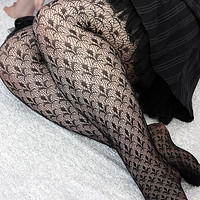 Socks by Sock Dreams » .Socks » Tights » Paris Fleur de lis Pantyhose