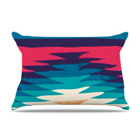 KESS InHouse Surf Fleece Pillow Case