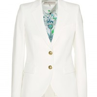 STRETCH WOOL-CREPE BLAZER