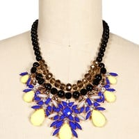 Radiant Gemstone Statement Necklace