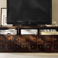ANDOVER MEDIA CONSOLE - WEATHERED WALNUT FINISH