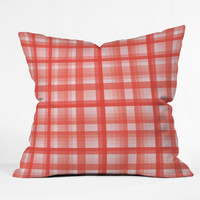 Lisa Argyropoulos Country Plaid Vintage Red Throw Pillow
