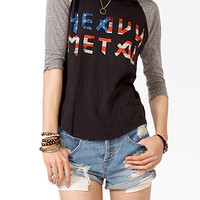 Heavy Metal Baseball Top