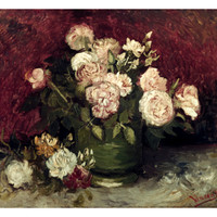 Van Gogh: Roses, 1886 Print by Vincent van Gogh at Art.com