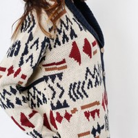 Cream Aztec Cardigan