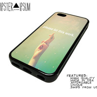 Cross Fingers Life Quote Inspiratoinal Apple iPhone Case Cover Skin Design 4 4S 5 5S 5C S4 SIV