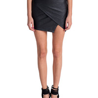 Lush Clothing - Textured Diagonal Cut Mini Skirt