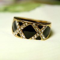 Ebony and Gold Ring