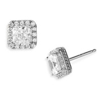 Nordstrom Pavé Square Stud Earrings | Nordstrom