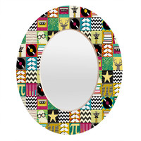 Sharon Turner Hip Hip Geek Oval Mirror