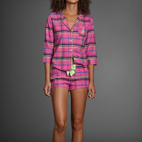 Britt Flannel Sleep Shorts