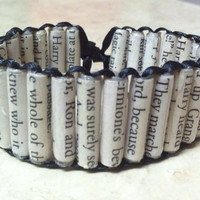 Harry Potter Paper Bead Bracelet (Also in Hunger Games, Twilight, Divergent, The mortal Instruments and many more!)