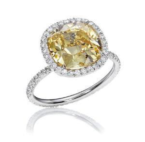 Harry Winston Rings: Colored Diamond Rings - The One, Yellow Diamond Micropave Ring