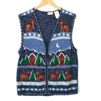 Jingle Bell Reindeer Tacky Ugly Christmas Sweater Vest