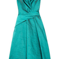 Lela Rose Brocade wrap-effect dress – 66% at THE OUTNET.COM
