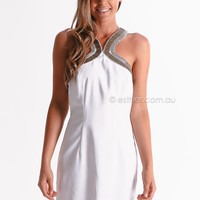 opposites attract dress - white