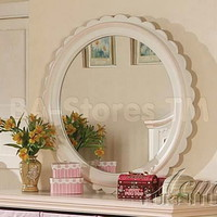Crowley Cream and Peach Round Mirror | Kids Mirrors AF-00760/1